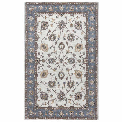 Rizzy Home Valintino Collection Christina Bordered Rectangular Rugs