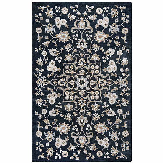 Rizzy Home Valintino Collection Kayleigh Floral Rectangular Rugs