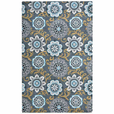Rizzy Home Valintino Collection Laura Floral Rugs