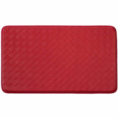 Chef Gear Faux-Leather Diamond Weave Comfort Kitchen Mat