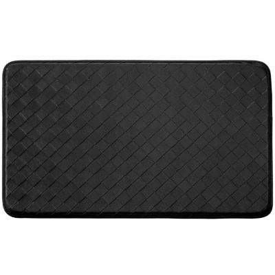 Chef Gear Faux Leather Diamond Weave Comfort Kitchen Mat