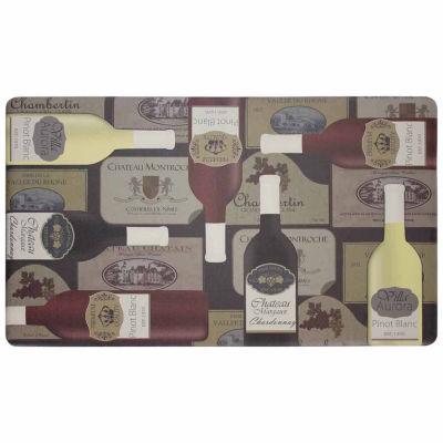 Chef Gear Wine Label Anti-Fatigue Gelness ComfortKitchen Mat