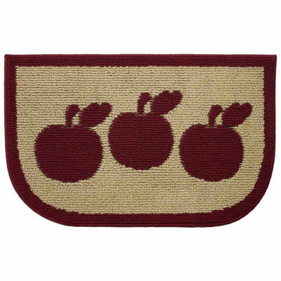 Structures Apple Turnover Textured Loop Wedge Kitchen Mat