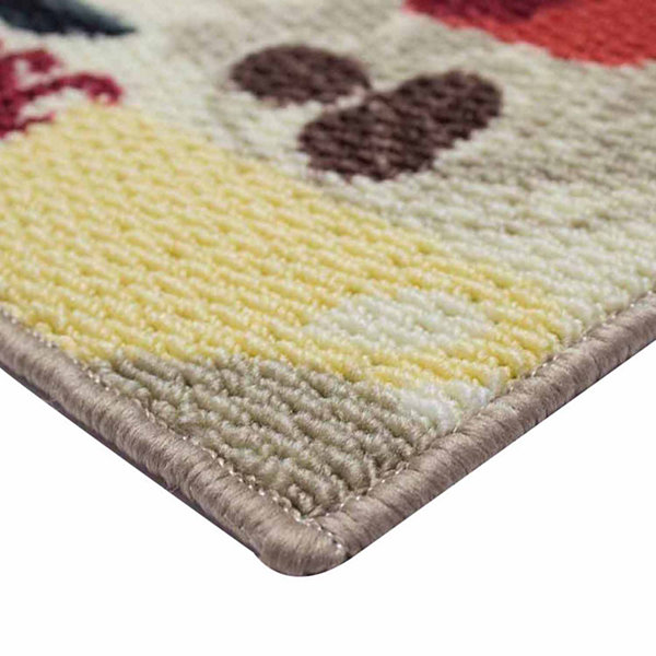 Structures Coffee Textured Loop Oblong Kitchen Mat