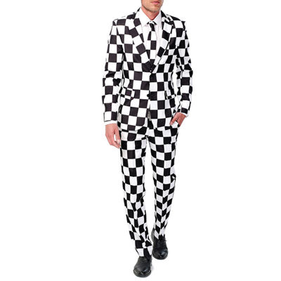 Suitmeister Men's Checked Black White - Slim Fit