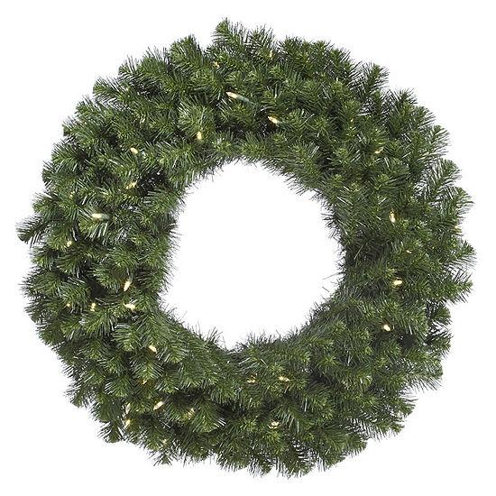 "Vickerman 36"" Douglas Fir Christmas Wreath with 100 Warm White LED Lights"""