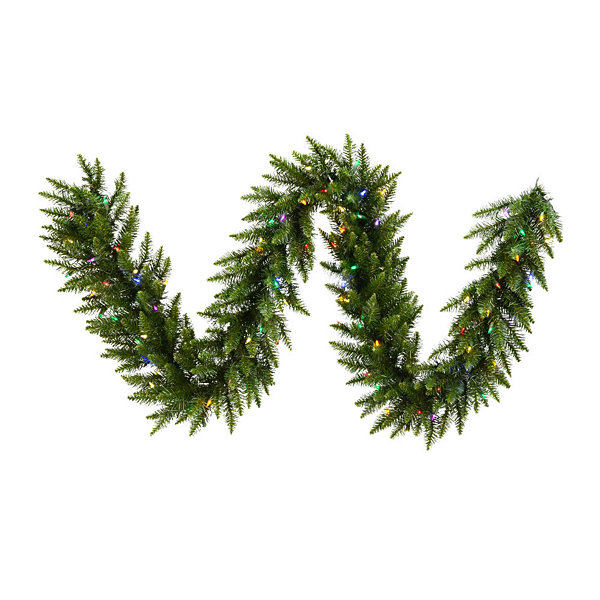Vickerman 9' Camdon Fir Christmas Garland with 100 Multi Colored LED Lights