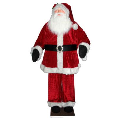 Vickerman 6' Red Velvet Standing or Sitting Santa Unlit