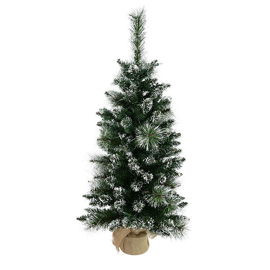 Vickerman 3 Snow Tipped Mixed Pine And Berry Christmas Tree Unlit