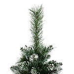 Vickerman 3' Snow Tipped Mixed Pine and Berry Christmas Tree Unlit