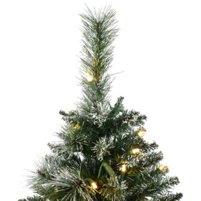 Vickerman 3' Snow Tipped Mixed Pine and Berry Christmas Tree with 50 Lights