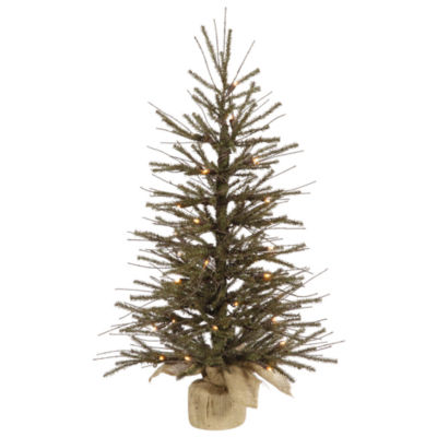 "Vickerman 24"" Vienna Twig Artificial Christmas Tree with 35 Warm White LED Lights """
