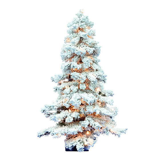 Jc Penney Christmas Trees: Vickerman Pre-Lit Christmas Tree, Color: Flocked White