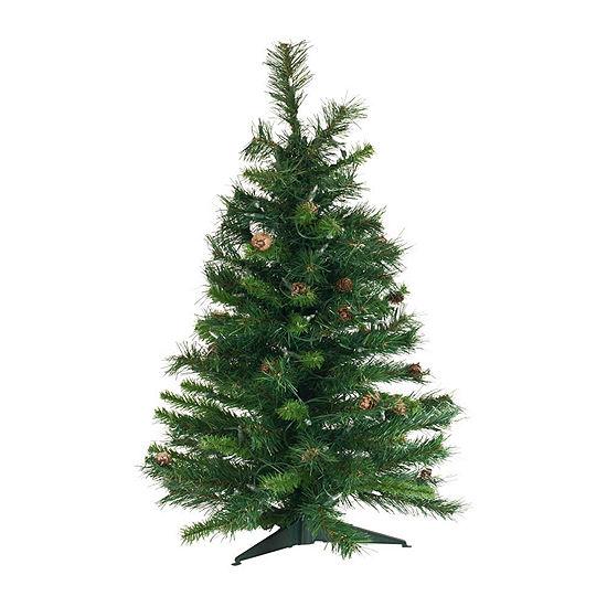 Vickerman 3' Cheyenne Pine Artificial Christmas Tree Unlit