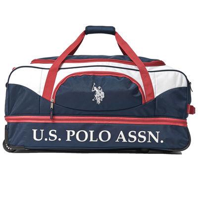 Us Polo Assn. Deluxe Drop Bottom Wheeled Duffel