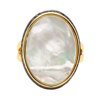 City Rocks City Rocks Womens Genuine White 14K Brass Cocktail Ring