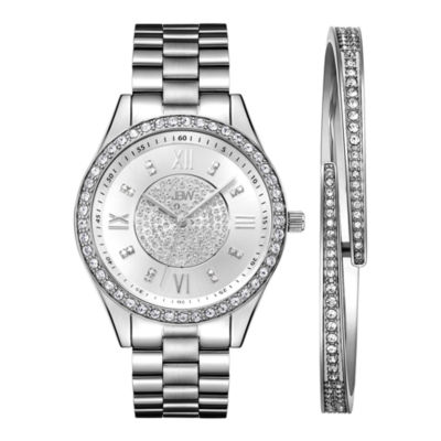 JBW Diamond Womens Silver Tone Stainless Steel 2-pc. Watch Boxed Set-J6303-Seta
