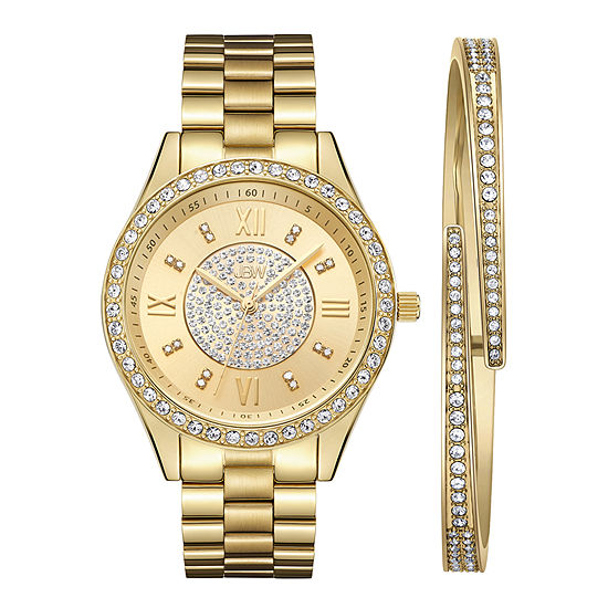 JBW 18K Gold Over Stainless Steel Watch Boxed Set-J6303-Setb