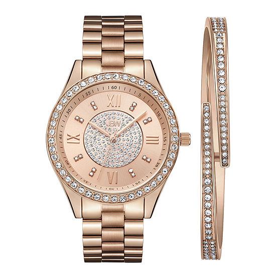JBW 18K Rose Gold Over Stainless Steel Watch Boxed Set-J6303-Setc