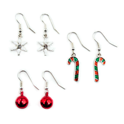 Mixit 3 Pair Clear Earring Sets