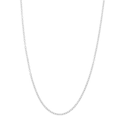 Sterling Silver Cable 22 Inch Chain Necklace
