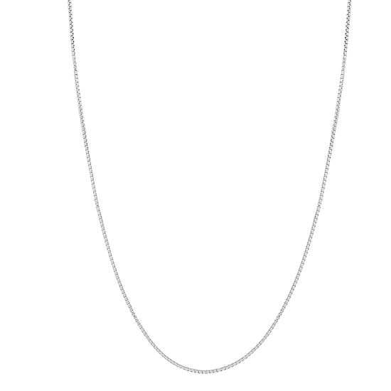 Sterling Silver 22 Inch Box Chain Necklace