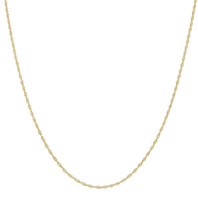 10K Gold 16 Inch Rope Chain Necklace