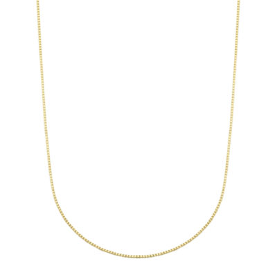 10K Gold Box 18 Inch Chain Necklace