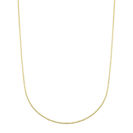 10K Gold 18 Inch Box Chain Necklace