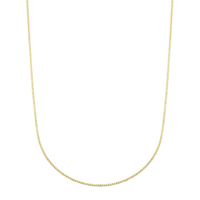 10K Gold 20 Inch Box Chain Necklace