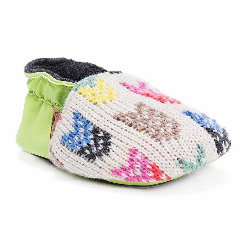 MUK LUKS Baby Soft Shoes, Unisex, Kiwi, Size 0-6 Months