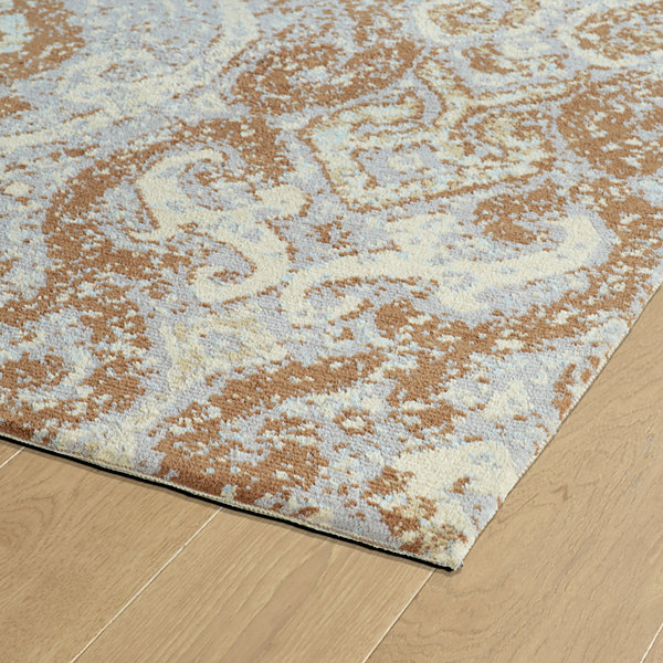 Kaleen Cozy Toes Transitions Damask Rectangular Rug