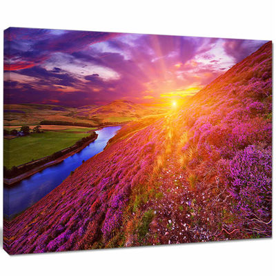Designart Colorful Scottish Mountains Landscape Photography Canvas Art Print