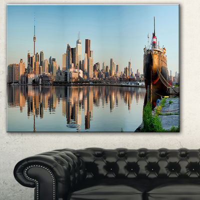 Design Art Toronto City Skyline Panorama Cityscape Photography Canvas Print
