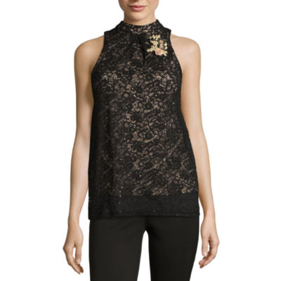 by&by Sleeveless Lace Dress Shirt Juniors