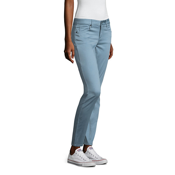 Arizona Skinny Fit Slim Pants-Juniors
