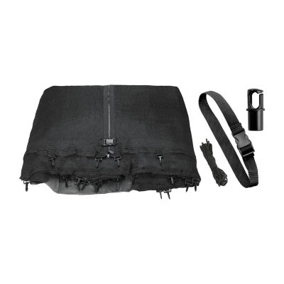 Upper Bounce Trampoline Replacement Enclosure Net:Fits For 9 ft Works with multiple amount of poles- Pole Caps Included