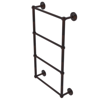 Allied Brass Que New Collection 4 Tier 24 Inch Ladder Towel Bar With Groovy Detail