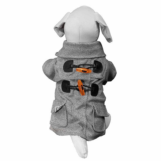 The Pet Life Military Static Rivited Fashion Collared Wool Pet Coat