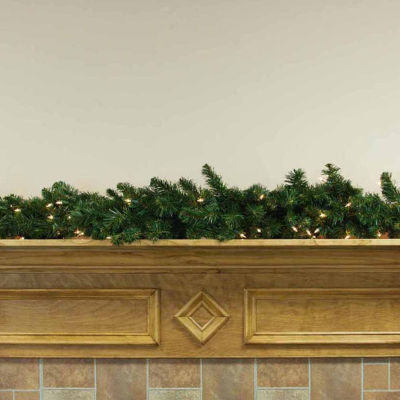 "6' x 12"" Pre-Lit Middleton Artificial Christmas Garland - Clear Lights"""