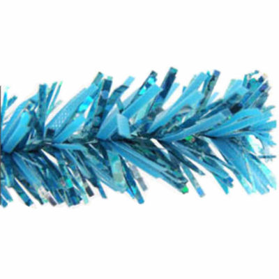 "9' x 10"" Sparkling Sky Blue Tinsel Artificial Christmas Garland - Unlit"""