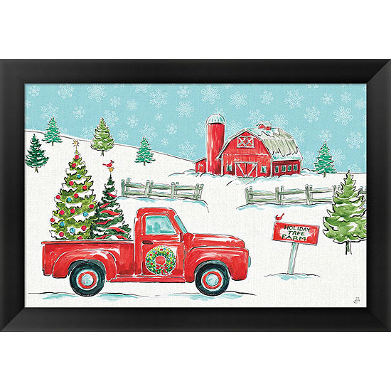 Metaverse Art Christmas In The Country I Framed Print