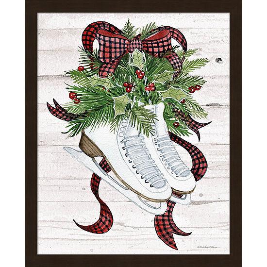 Metaverse Art Holiday Sports III on White Wood Framed Print