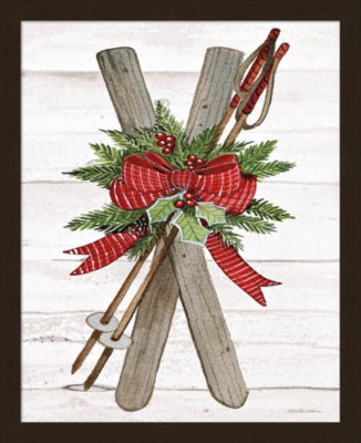 Metaverse Art Holiday Sports IV on White Wood Framed Print