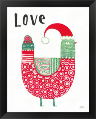 Metaverse Art Christmas Tweets I Framed Print