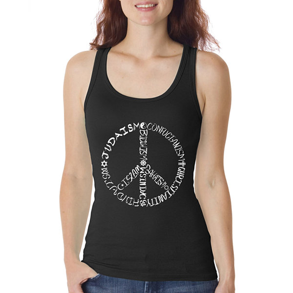 Los Angeles Pop Art Women's Tank Top - Different Faiths peace sign