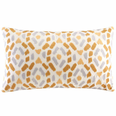 INK + IVY Auden Embroidered Ogee Ikat Decorative Throw Pillow