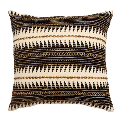 Jean Pierre Jayce Hand Beaded Decorative Pillow