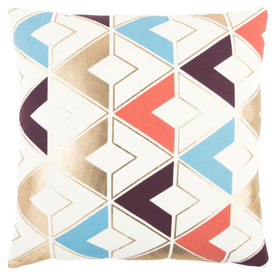 Rizzy Home Edward Geometric Pattern Filled Pillow