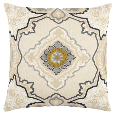 Rizzy Home Everett Medallions Pattern Filled Pillow